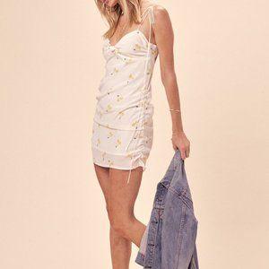 NEW FOR LOVE & LEMONS ASHLAND SHIRRED DRESS SIZE S